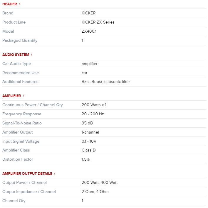 Kicker Zx 400.1 Desc1