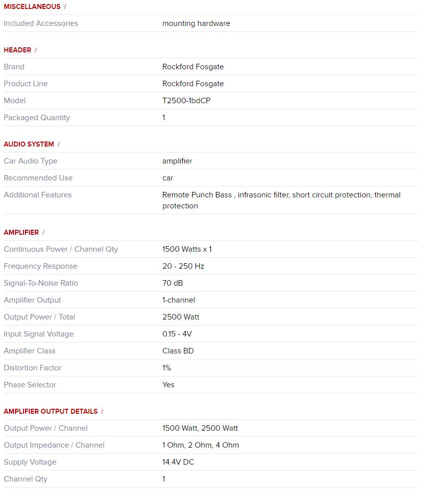 Rockford Fosgate T2500 1bdcp Desc1