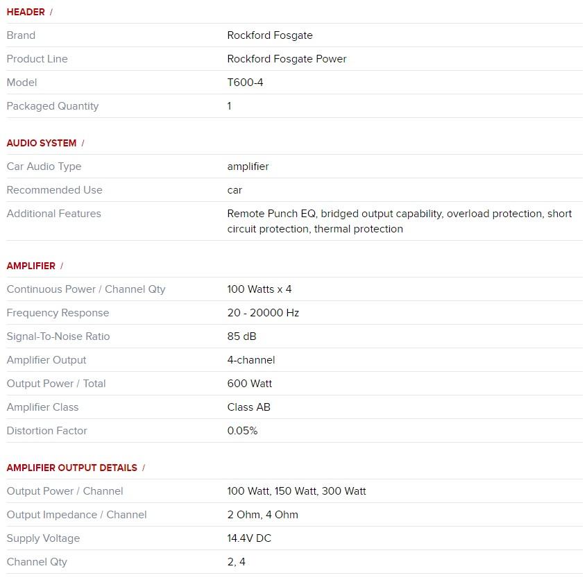 Rockford Power T600.4 D1
