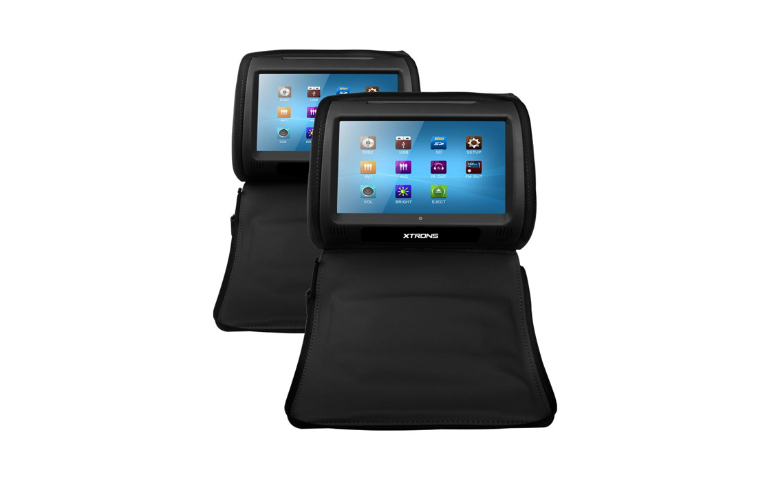XTRONS HD908B 2 x 9″ In Car Touch Screen Headrest DVD Players