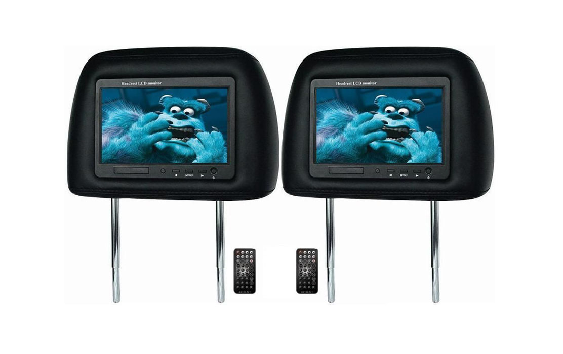 7″ Headrest Pillow with Built-in LCD Monitor
