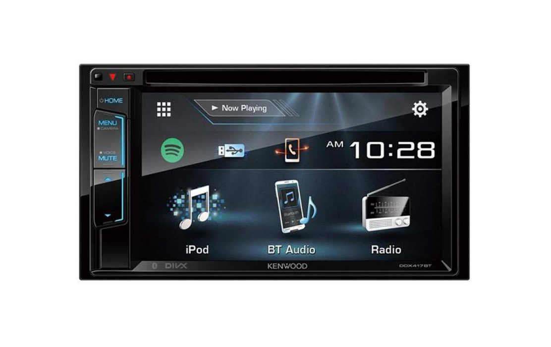 Kenwood DDX417BT 6.2 Inch Built-in Bluetooth Double Din AV Stereo Receiver