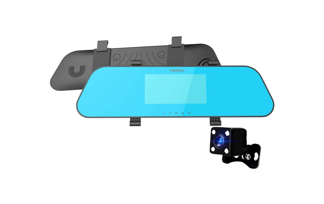 Merrill H433 Rear View Mirror with Backup Camera