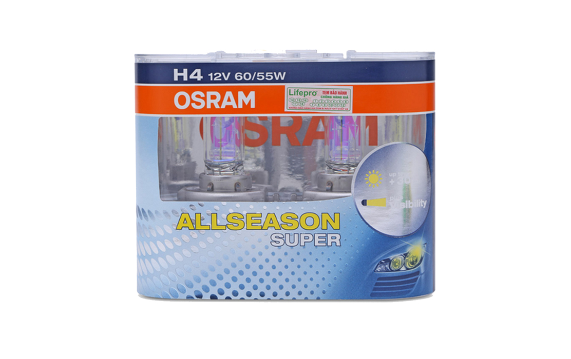 OSRAM H4 60/55w All Season Headlight Bulbs