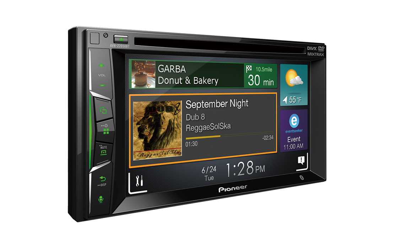Pioneer AVH Z2050bt Car DVD Stereo