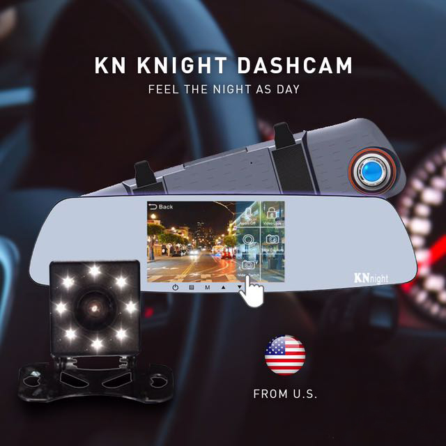 Real Night Vision Front And Back Camera With Built In Dashcam Description