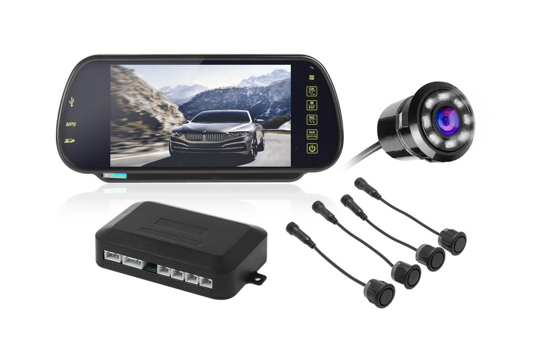 7 inch LCD back up sensor with camera