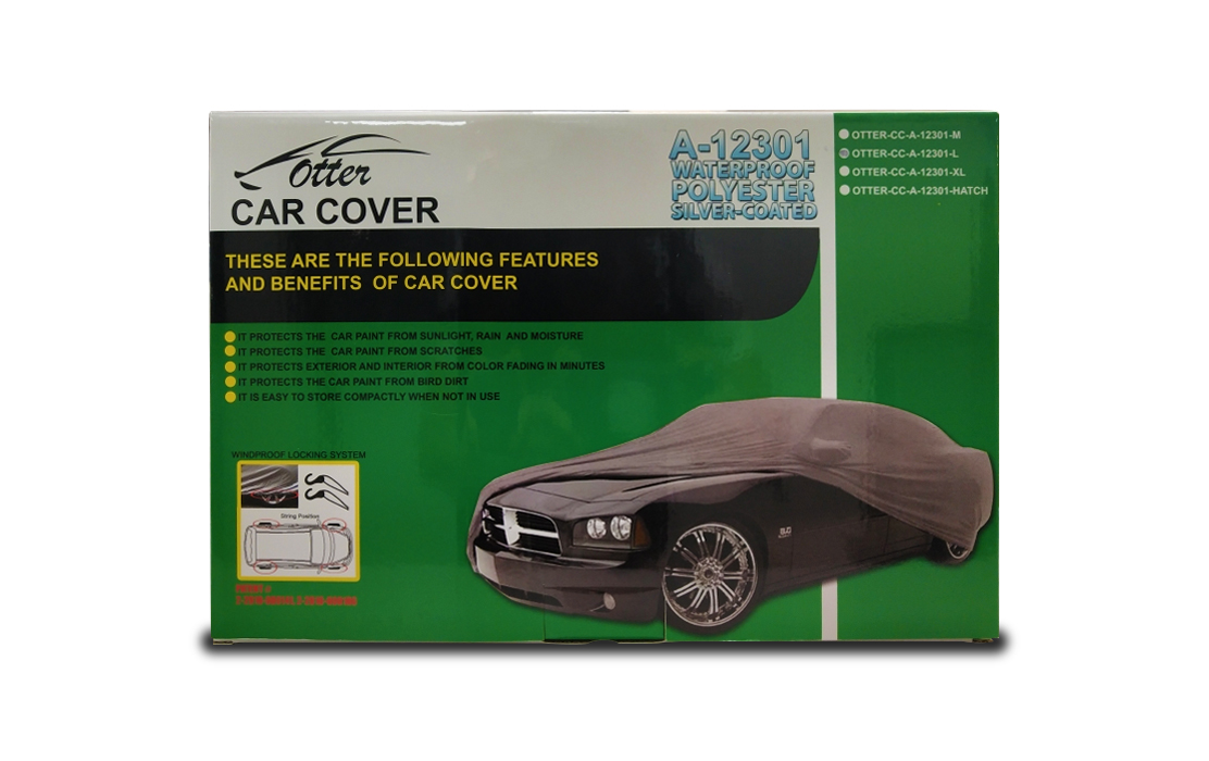 Otter Car Cover Water-Proof Polyester Silver Coated